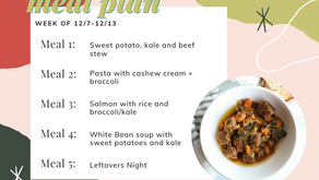 Meal Plan Monday: Week of 12/7 (recipes + meal prep)