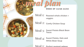 Meal Plan Monday: Week of 11/16 (recipes + meal prep)