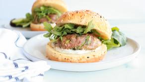 Parmesan Basil Turkey Burgers