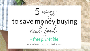 How to Save Money buying real food