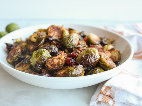 Thanksgiving Side:  Bacon Cranberry Brussels Sprouts