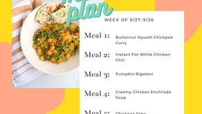 Meal Plan Monday: Week of 9/27 (recipes + meal prep)