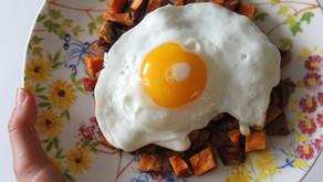 Recipe: Sweet Potato, Apple + Chicken Sausage Skillet