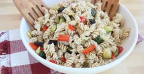 Recipe: Family-friendly Roasted Garlic + Veggie Picnic Pasta Salad