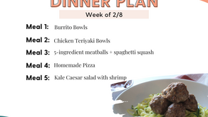 Meal Plan Monday: Family Dinners Week of 2/8