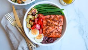 Honey Dijon Grilled Salmon Nicoise Salad