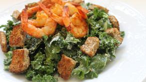 Recipe: Kale Caesar Salad with Shrimp