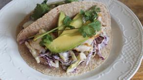 Recipe: Cajun Cod Tacos with cabbage slaw + avocado