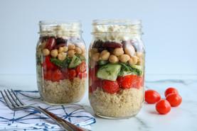 Meal Prep Recipe: Greek Quinoa Meal Prep Jars