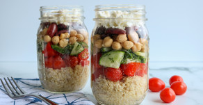 Make-Ahead Lunch: Greek Quinoa Meal Prep Jars