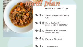 Meal Plan Monday: Week of 11/23 (recipes + meal prep)