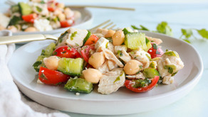 Herby Chopped Chicken and Chickpea Salad