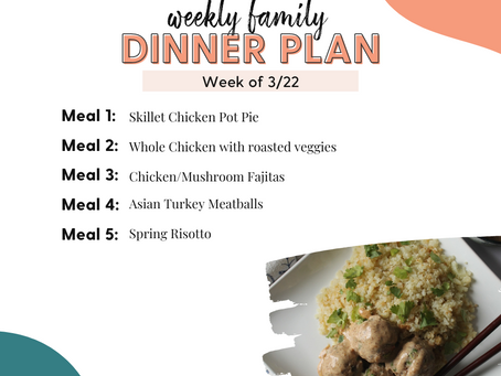 Meal Plan Monday: Family Dinners Week of 3/22
