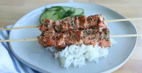 Recipe: Greek Herb Salmon Skewers