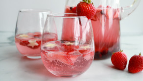 Fizzy Red, White and Blue Sangria