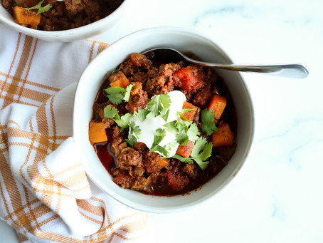 Beef and Butternut Squash Chili Recipe