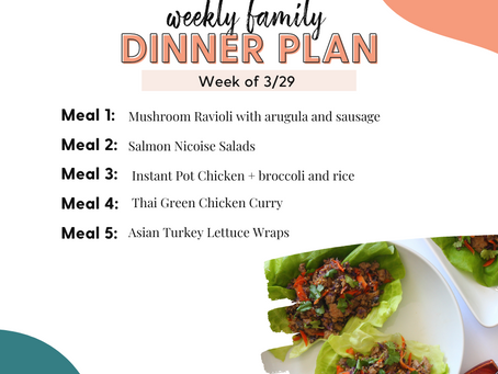 Meal Plan Monday: Family Dinners Week of 3/29