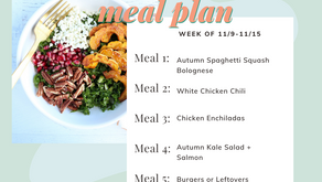 Meal Plan Monday: Week of 11/9 (recipes + meal prep)