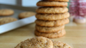 Peanut Butter Ginger Crackle Cookies