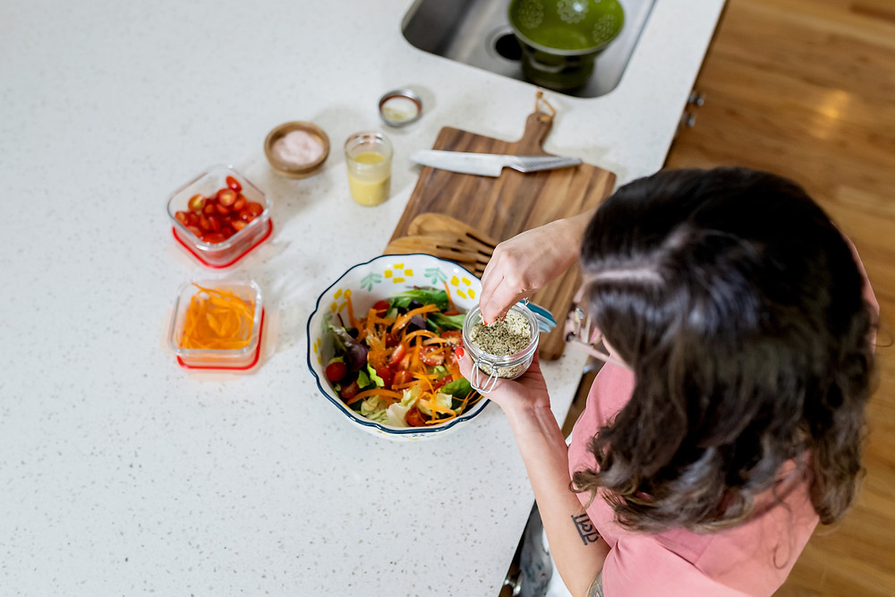 woman healthy cooking