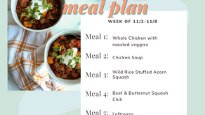 Meal Plan Monday: Week of 11/2 (recipes + meal prep)