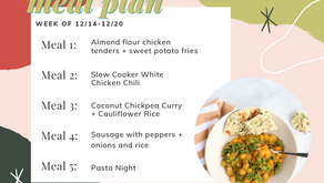Meal Plan Monday: Week of 12/14 (recipes + meal prep)