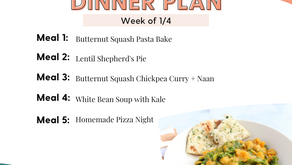Meal Plan Monday: Family Dinners Week of 1/4