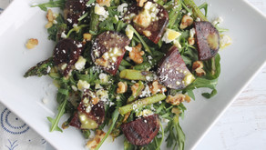 Recipe: Grilled Beet and Asparagus Salad with golden turmeric dressing