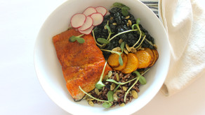 Seared Salmon and Wild Rice Power Bowl