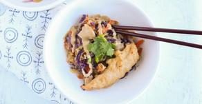 Recipe: Sesame Marinated Chicken with spaghetti squash sesame noodles
