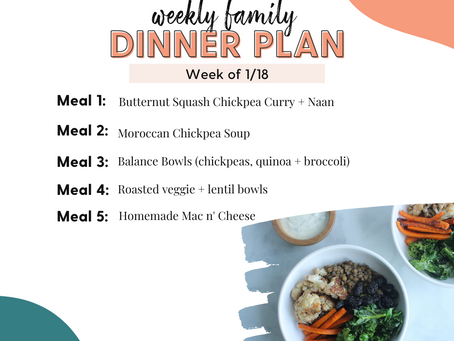 Meal Plan Monday: Family Dinners Week of 1/18