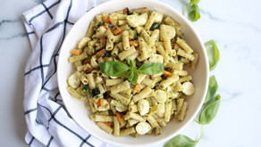 Pesto Grilled Vegetable Pasta Salad