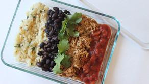 Meal Prep Chicken Burrito Bowls
