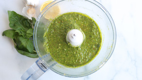 Spinach Almond Pesto (dairy-free option)
