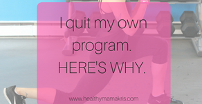 I quit my own program. Here's why.