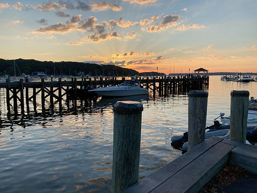 Northport Harbor and Dock Sunset, Northport, NY 11768