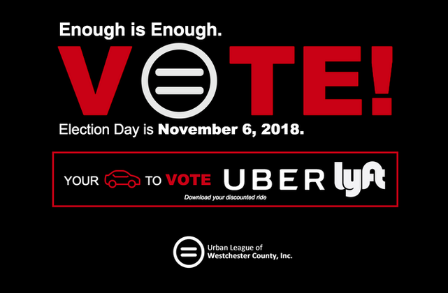 Urban League of Westchester Partners with Ridesharing Companies for Discounted Rides to the Polls