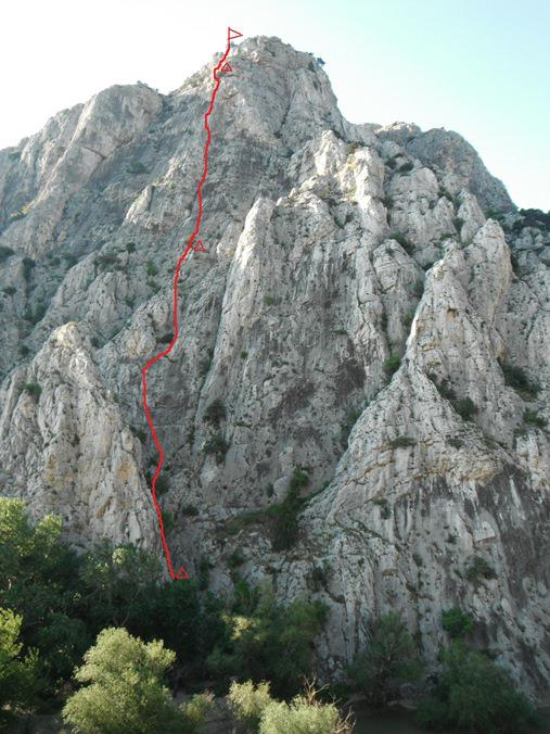 South wall, Good course route, trad