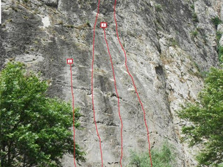 Three new variants of 150m routes is available for climbing in canyon Demir Kapija !