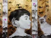 「ペルシャ猫を愛でる人」