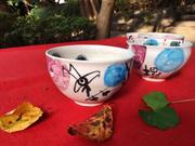 「無心茶」のお点前で使う抹茶椀 を依頼されモダンな器を沢山作る。