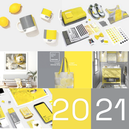 Colors of the year 2021 Announced! Ultimate Grey and Illuminating Yellow!