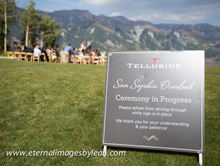 Telluride Wedding at San Sophia Overlook