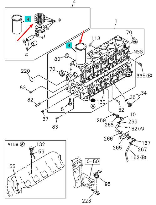 1112611190 Гильзы на двигатель