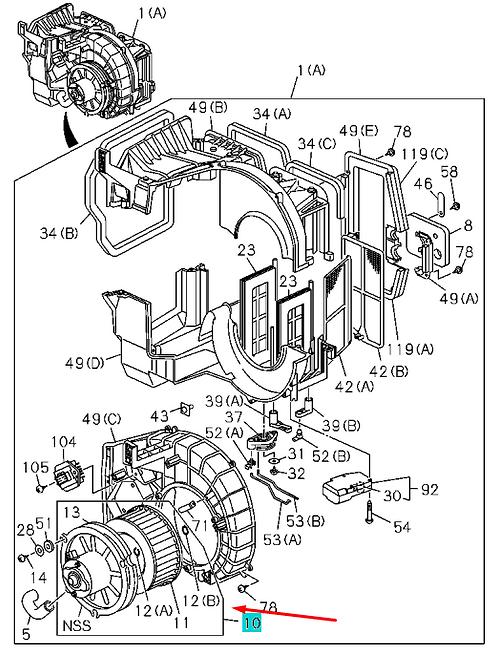 1835611640 Мотор отопителя
