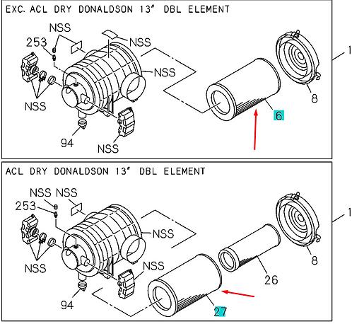 1142152030 Фильтр воздушный внутренний элемент