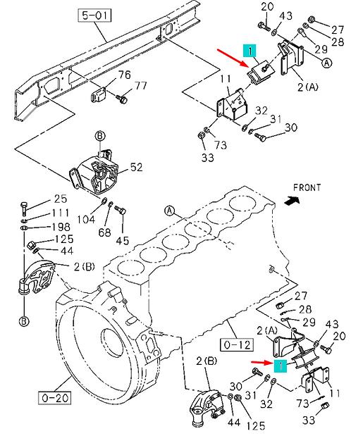 1532151471 Опора двигателя