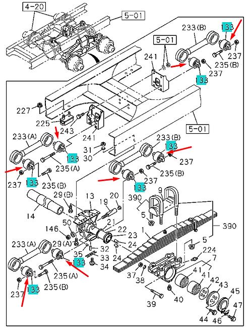 1515191131 Сайлентблок реактивных тяг заднего мост