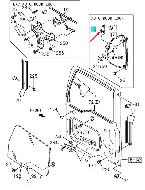 1744181760 Мотор привода стеклоподъемника правый