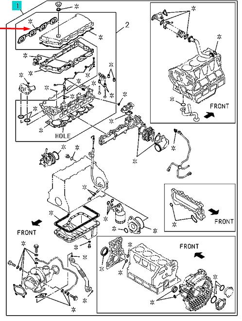 5878151911 Комплект прокладок двигателя